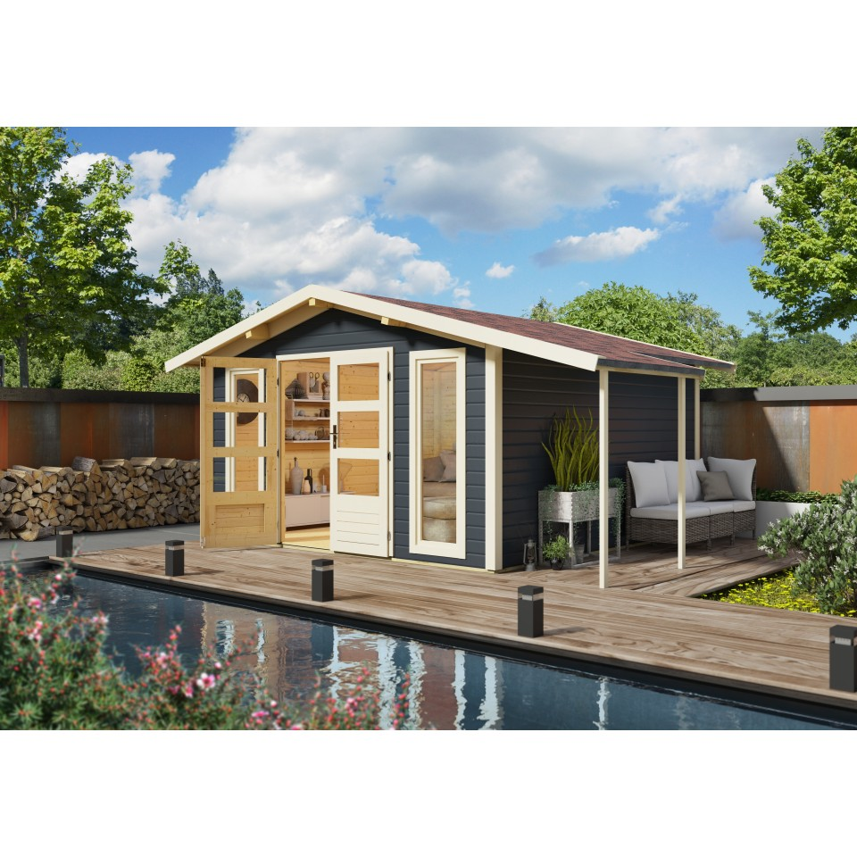 karibu woodfeeling gartenhaus einbeck 1 2 3 38 mm mein. Black Bedroom Furniture Sets. Home Design Ideas