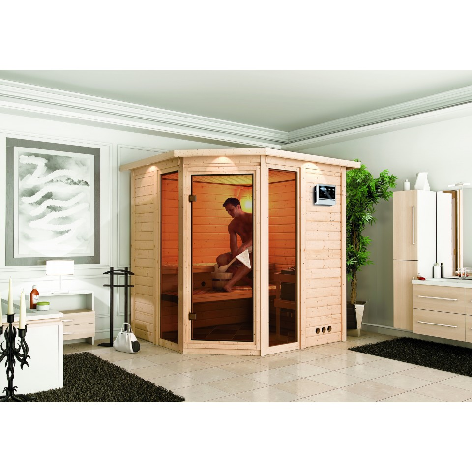 karibu massivholzsauna sinai 2 karibu. Black Bedroom Furniture Sets. Home Design Ideas