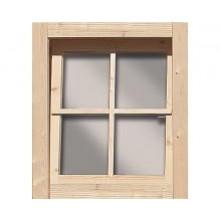 Karibu Dreh-/ Kippfenster für 38-40 mm Häuser und Carports
