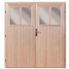 Karibu Doppelflügeltür für Wandlitz 19 mm inkl. Türschloss und Rahmen