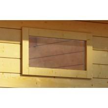Karibu Fenster feststehend für 28 mm Häuser und Carports