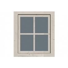 Karibu feststehendes Fenster mit Echtglas für 28 mm Gartenhäuser - 69 x 79,5 cm - Aktion
