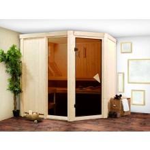 Karibu Sauna Fiona 2 mit Eckeinstieg - 68 mm inkl. Premium Ausstattung