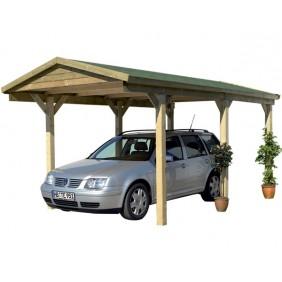 Karibu Einzelcarport Classic 1 mit Satteldach - Abb. inkl. Dachschindeln - gegen Aufpreis erhältlich