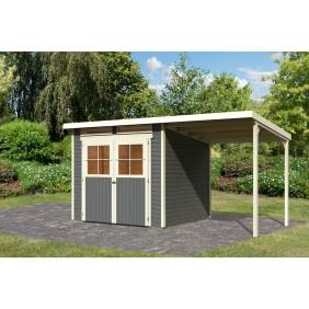Karibu Eco Gartenhaus Gerätehaus Grebenau 2/3/4/5 - 19 mm (Abb. inkl. Zubehör: Fußboden)