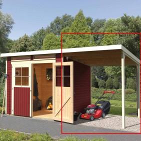 Karibu Schleppdach für Gartenhaus Värmland 1/2 und Wangerland