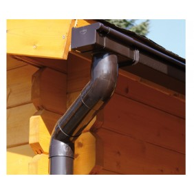 Kunststoff Dachrinnenset 246A für Gartenhäuser