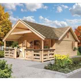 Karibu Terrasse für Modelle Wonnesund / Girion