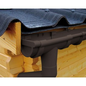 Kunststoff Dachrinnenset für Weka Carport 606 Gr. 1/2
