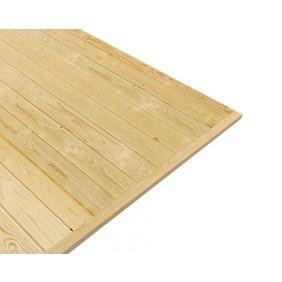 Fußboden zu Karibu Woodfeeling 28 mm Gartenhaus Fagor 1/2