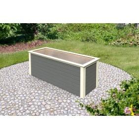 Karibu Hochbeet 1 - 450 l Fassungsvermögen 19 mm Wandstärke terragrau