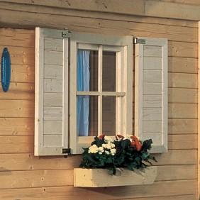 Karibu Fensterläden für 28 mm Einzelfenster