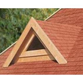 Karibu Dachgaube für 40 mm Blockbohlenhäuser mit Fenster