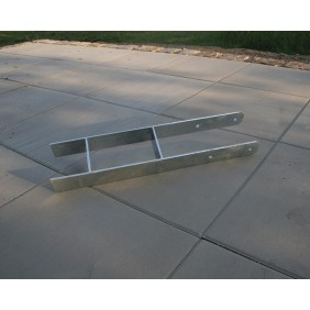 Karibu H-Pfostenanker für 12 x 12 cm Pfosten - 4er Set, 60 cm