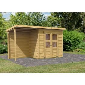 Karibu Eco Gartenhaus Gerätehaus Merry 2 (Abb. inkl. Zubehör: Fenster und Dachschindeln)