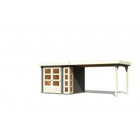 Karibu Gartenhaus Kerko 497 x 209 cm terragrau - 19 mm