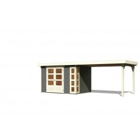 Karibu Gartenhaus Kerko 557 x 209 cm terragrau - 19 mm
