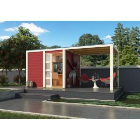 Karibu Eco Gartenhaus Gerätehaus Lichtenau 2/3/5 - 19 mm (Abb. inkl. Zubehör: Fußboden)