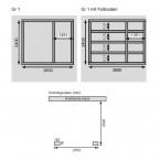 Karibu Woodfeeling Gartenhaus Tintrup 28mm - Fundamentplan