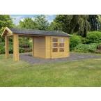 Karibu Woodfeeling Gartenhaus Tastrup 3 - 28 mm mit 1 Anbau