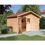 Karibu Gartenhaus Gerätehaus Oldenborg - 28 mm (Abb. inkl. Zubehör: Fußboden und Dachschindeln)