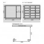 Karibu Woodfeeling Gartenhaus Mattrup - 28mm Fundamentplan