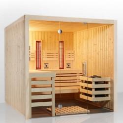 Infraworld Sauna Panorama Complete Fichte/Espe-  75 mm Multifunktionssauna