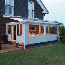 Skan Holz Polyester Partyzeltwände für Terrassenüberdachungen aus Leimholz für die Seite (freistehend)