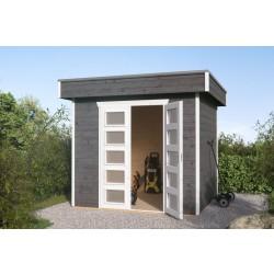 Skan Holz 28 mm Blockbohlenhaus Venlo 1 inkl. gratis Fundamentanker/Pads