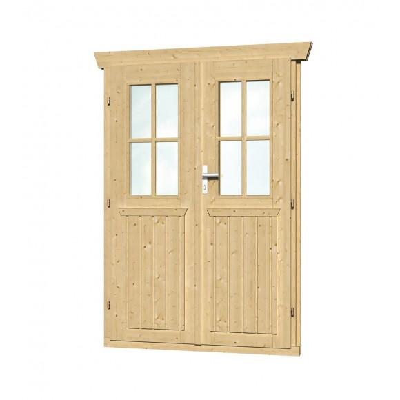 Doppeltür Holz skan holz doppeltür halbverglast für 28 mm gartenhäuser mein