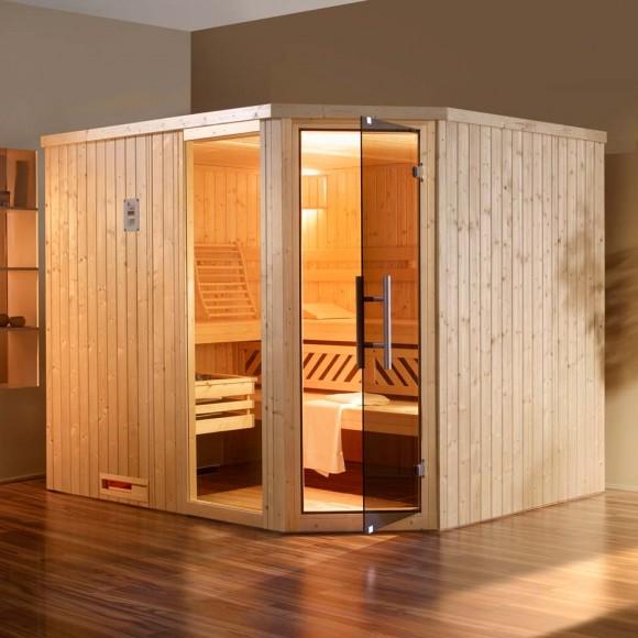 Weka Sauna Kasala 4 - Elementsauna mit Eckeinstieg