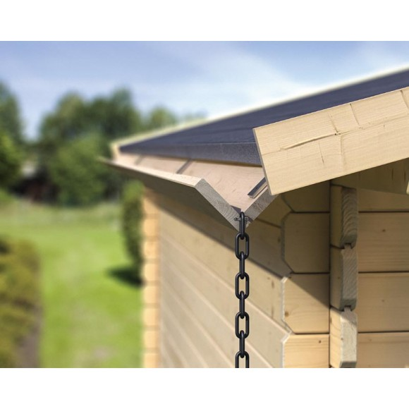 Karibu Holzdachrinnen-Set für Satteldächer - Grundpaket