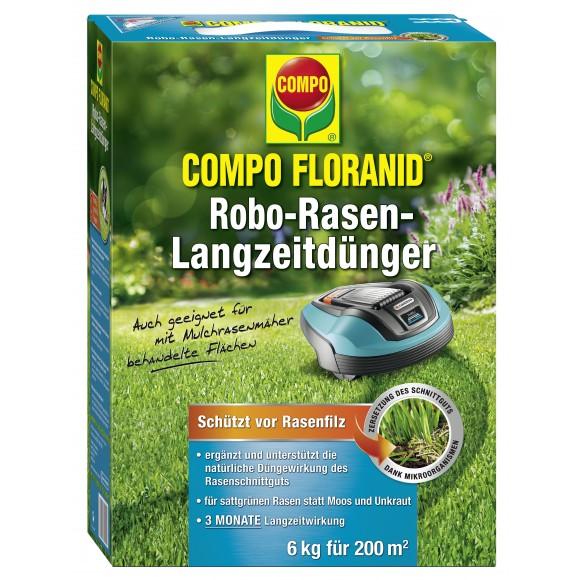 COMPO FLORANID Robo Rasen Langzeit Dünger 6 Kg Für 240 M²