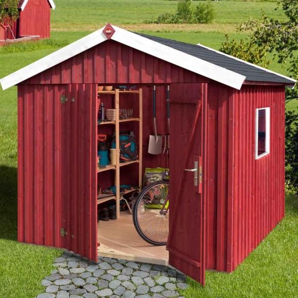 Schwedenhaus gartenhaus  Weka Schwedenhaus - 32 mm Gartenhaus sägerau | mein-gartenshop24.de