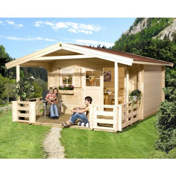 Weka 45 Mm Gartenhaus 136 Mit Vordach Terrasse Mein Gartenshop24 De