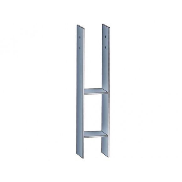 Skan Holz H-Anker für 9 x 9 cm Pfosten