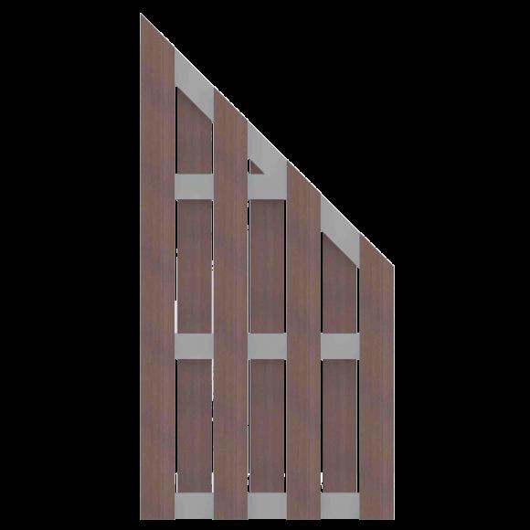 Groja Solid Zaunelement Typ Schrag 97x180 90