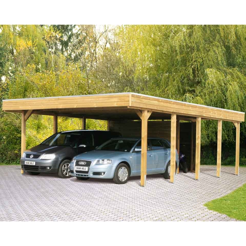 skan holz carport friesland 557x708 cm inkl abstellraum sparset mein. Black Bedroom Furniture Sets. Home Design Ideas