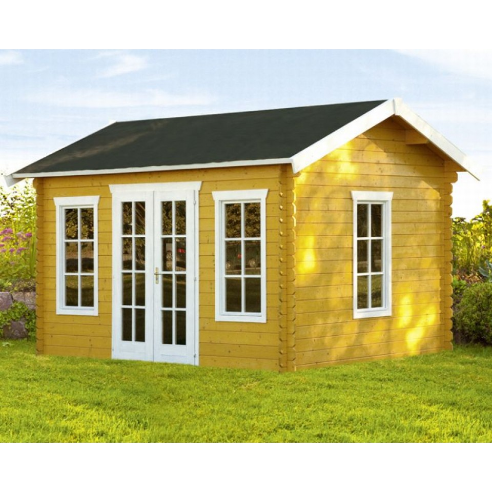 skan holz 28 mm blockbohlenhaus gartenhaus milano skanholz. Black Bedroom Furniture Sets. Home Design Ideas