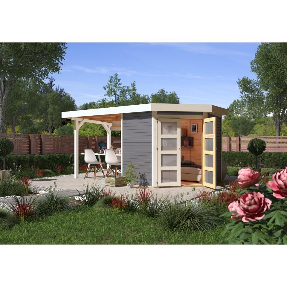 karibu gartenhaus ger tehaus goldendorf 3 5 mit 220 cm schleppdach 19 mm mein. Black Bedroom Furniture Sets. Home Design Ideas