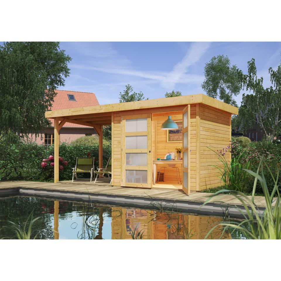 karibu gartenhaus ger tehaus m hlendorf 2 3 4 mit 220 cm. Black Bedroom Furniture Sets. Home Design Ideas