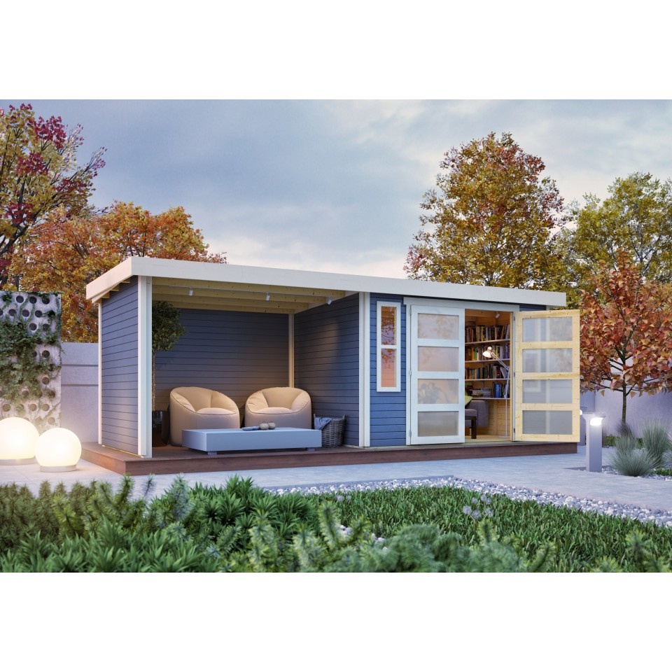 karibu gartenhaus ger tehaus m hlendorf 3 4 mit 260 cm. Black Bedroom Furniture Sets. Home Design Ideas