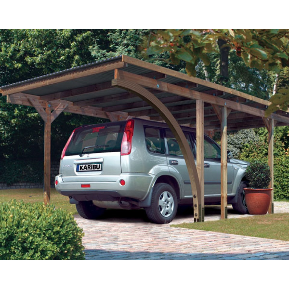 karibu carport einzelcarport eco 1 2 mein. Black Bedroom Furniture Sets. Home Design Ideas