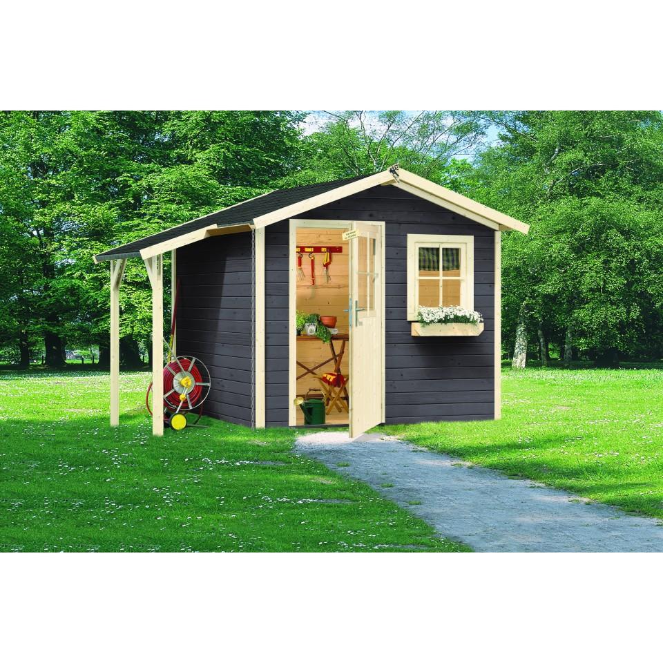 karibu eco gartenhaus ger tehaus friedeborg 28 mm mein. Black Bedroom Furniture Sets. Home Design Ideas