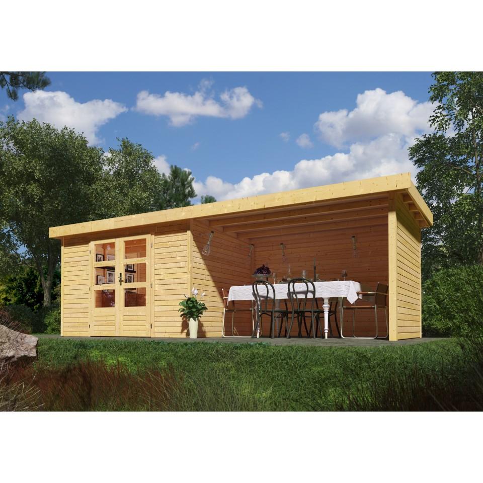 karibu woodfeeling gartenhaus askola 2 3 3 5 4 5 19 mm. Black Bedroom Furniture Sets. Home Design Ideas
