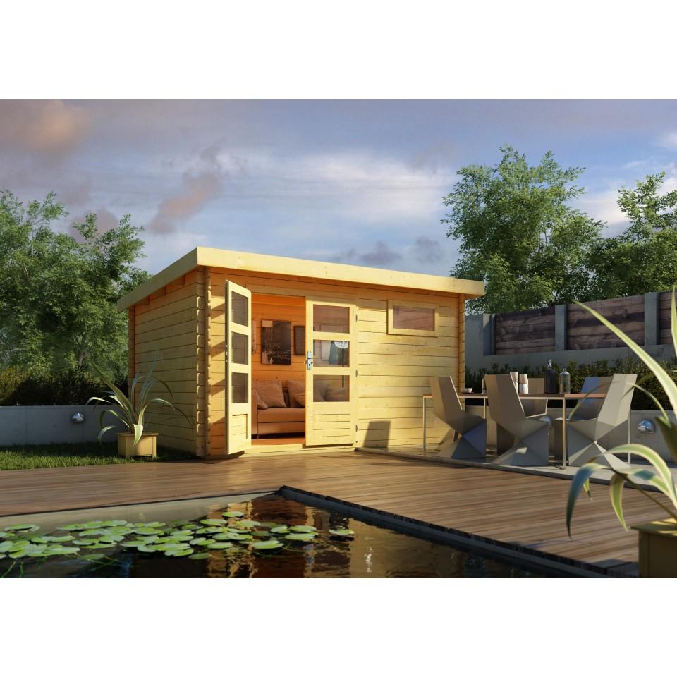 karibu woodfeeling gartenhaus bastrup 8 28 mm mein. Black Bedroom Furniture Sets. Home Design Ideas