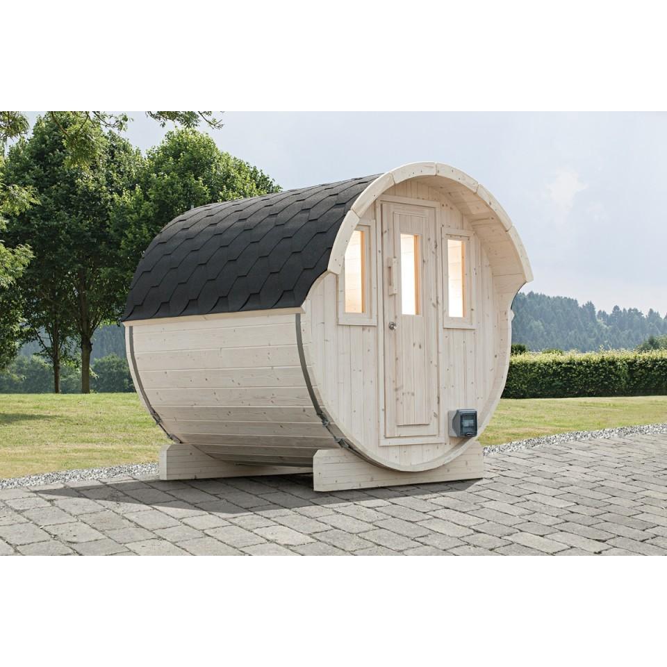 wolff finnhaus saunafass fasssauna 220 mein. Black Bedroom Furniture Sets. Home Design Ideas
