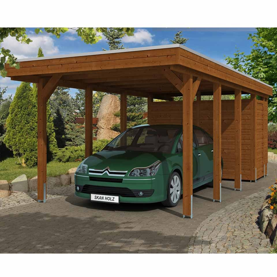 skan holz carport friesland 314x708 cm inkl abstellraum sparset skanholz. Black Bedroom Furniture Sets. Home Design Ideas