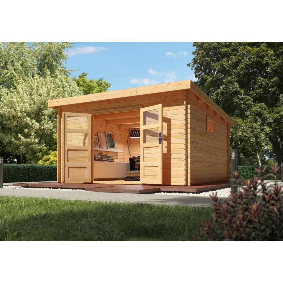 karibu woodfeeling gartenhaus torgau 5 6 7 38 mm mein. Black Bedroom Furniture Sets. Home Design Ideas