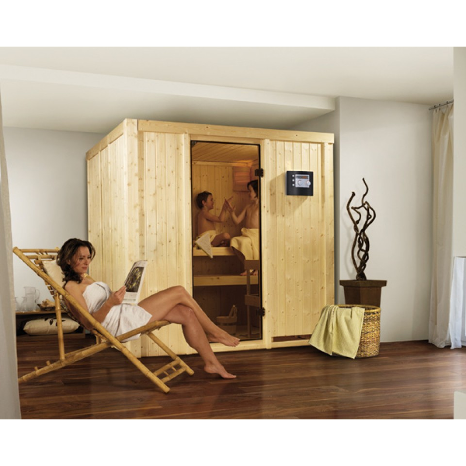 karibu sauna daria 68 mm systemsauna 230 volt plug play sparset bei mein. Black Bedroom Furniture Sets. Home Design Ideas